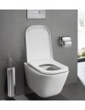 Miska WC wisząca 54x35 cm Roca Gap Rimless z deską wolnoopadającą A34H47C000