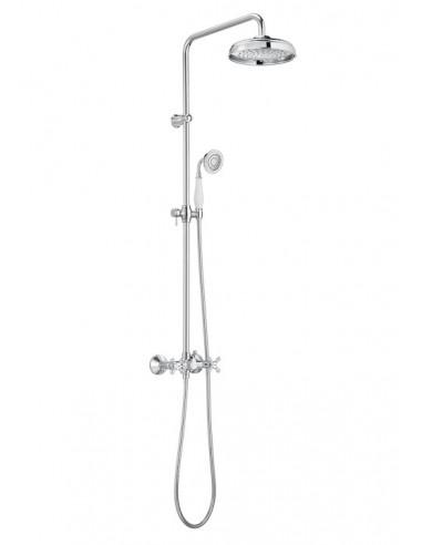 Kolumna prysznicowa z baterią dwuuchwytową, deszczownicą i słuchawką ROCA CARMEN chrom A5A974BC00