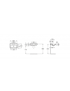 Umywalka wisząca ROCA DAMA-N COMPACTO 60x32x11 A327785000
