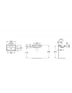 Umywalka wisząca ROCA DAMA-N COMPACTO 50x32x11 A327788000