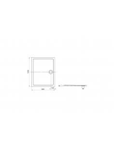 Brodzik prostokątny 140x80 cm Roca AERON z syfonem,kolor biały A276286100