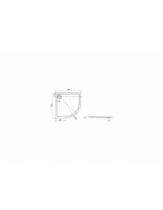 Brodzik półokrągły 80x80 cm Roca AERON ,kolor szary łupek A276283200
