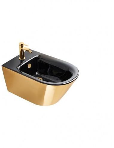 Bidet podwieszany CATALANO ZERO 55x35 Czarno-Złoty + śruby mocujące 1BS55NRNO