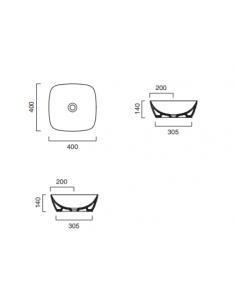Umywalka owalna nablatowa CATALANO VELIS 70x42 biało-złota 170VLNBO