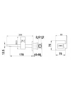 Bateria umywalkowa podtynkowa OMNIRES FRESH chrom FR7115N