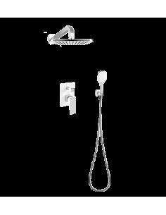Kompletny łazienkowy system podtynkowy OMNIRES biały/chrom SYS PM17A CRB