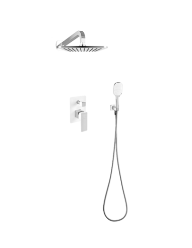 Kompletny łazienkowy system podtynkowy OMNIRES biały/chrom SYS PM16A CRB