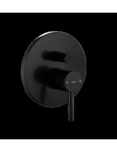 Bateria wannowa Omnires Y podtynkowa czarna Y1235BL