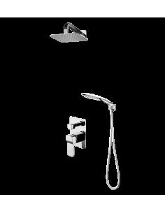 Kompletny łazienkowy system podtynkowy Omnires chrom SYSSL 10CR