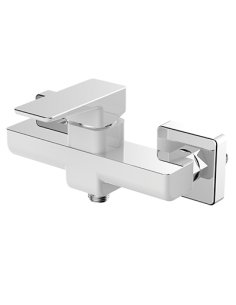 Bateria prysznicowa natynkowa biały/chrom Omnires Parma PM7440 CRB