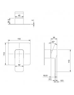 Bateria podtynkowa prysznicowa Omnires Slide SL7745