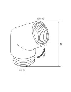Kolanko słuchawki prysznicowej złote Omnires T87 ZL