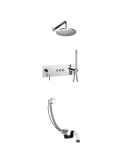 Kompletny łazienkowy system podtynkowy Omnires chrom SYS Y32GC
