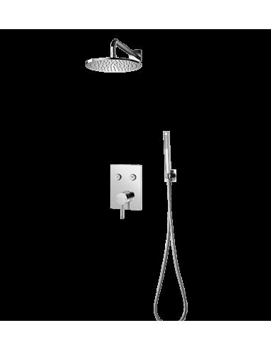 Kompletny łazienkowy system podtynkowy Omnires chrom SYS Y33GC