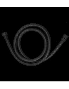 Wąż prysznicowy oplatany czarny Omnires 029 BL