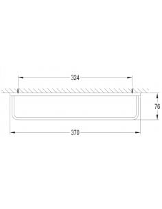 Wieszak na ręcznik 37 cm nikiel Omnires Darling DA70230 NI