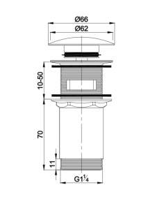 Korek klik-klak do syfonu umywalkowego Omnires biały A706 BI