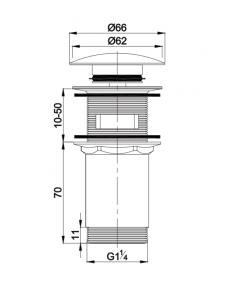 Korek klik-klak do syfonu umywalkowego Omnires czarny mat A706bl