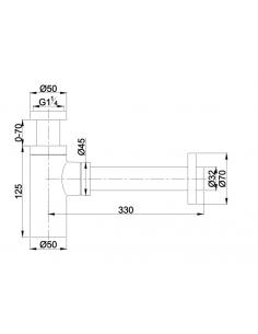 Syfon umywalkowy cylindryczny czarny mat Omnires A186 BL