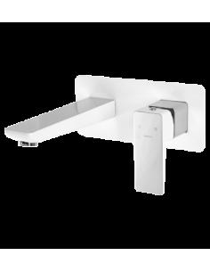 Bateria umywalkowa podtynkowa chrom/biały Omnires Parma PM7415 CRB