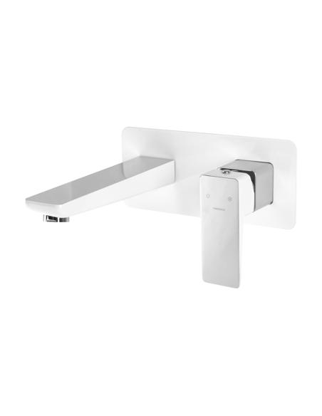 Bateria umywalkowa podtynkowa crom/biały Omnires Parma PM7415 CRB