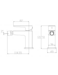 Bateria bidetowa sztorcowa chrom/biały Omnires Parma PM7420 CRB