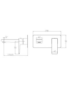 Bateria umywalkowa podtynkowa chrom Omnires Parma PM7415 CR