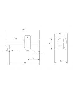 Bateria umywalkowa podtynkowa chrom Omnires Parma PM7415N CR