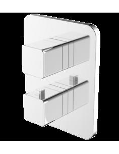 Bateria wannowa podtynkowa termostatyczna biały/chrom Omnires Parma PM7436 CRB