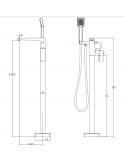 Bateria wannowa wolnostojąca chrom Omnires Parma PM7433 CR
