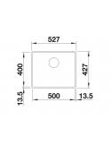 Zlewozmywak BLANCO SUBLINE 500-F SILGRANIT PURADUR JAŚMIN, INFINO 523536