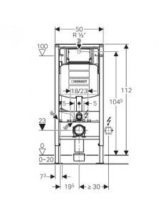 Stelaż WC Geberit Duofix , 112 cm, ze spłuczką podtynkową Sigma 12 cm 111.320.00.5