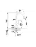 Bateria BLANCO CARENA SILGRANIT-LOOK ANTRACYT/CHROM 520971