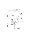 Bateria BLANCO CARENA-S SILGRANIT-LOOK ANTRACYT/CHROM 520980