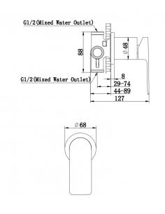 Bateria wannowa podtynkowa Kochlman Proxima QW210P