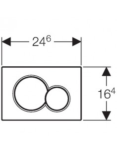 Przycisk spłukujący przedni Geberit Sigma01 biały alpin 115.770.11.5