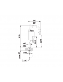 Bateria BLANCO CARENA-S VARIO SILGRANIT-LOOK ANTRACYT/CHROM 521358