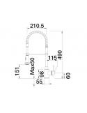 Bateria BLANCO MASTER-S SEMI-PROFI CHROMOWANA 514246