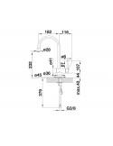 Bateria BLANCO FILO-S SILGRANIT-LOOK SZAMPAN/CHROM 513990