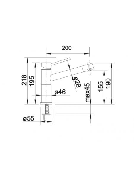 Bateria BLANCO ALTA COMPACT SILGRANIT-LOOK ALUMETALIK/CHROM 515316