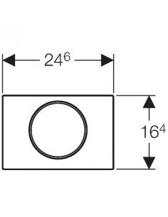 """Przycisk uruchamiający Geberit Sigma10, z funkcją """"stop"""" chrom bł-chrom mat-chrom bł 115.758.KH.5"""