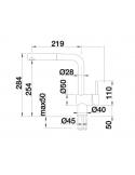 Bateria BLANCO LINUS-S VARIO CHROMOWANA 518406