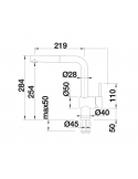 Bateria BLANCO LINUS-S CHROMOWANA DŹWIGNIA Z LEWEJ STRONY 514016