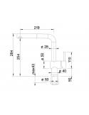 Bateria BLANCO LINUS-S-F CHROMOWANA 514023