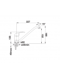 Bateria BLANCO DARAS-F CHROMOWANA 521751