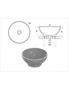Umywalka Denel Selen 350x165