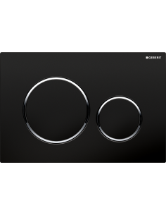 Przycisk uruchamiający Geberit Sigma20, przedni, biały-chrom bł.-biały 115.882.KJ.1