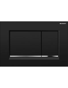 Przycisk uruchamiający Geberit Sigma30, przedni, czarny-chrom bł.-czarny 115.883.KM.1