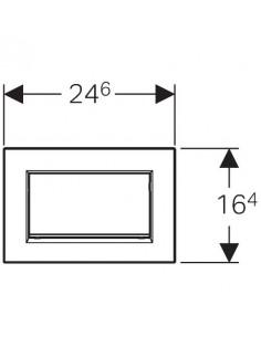 Przycisk uruchamiający Geberit Sigma30 1M, przedni, złocony 115.893.45.1