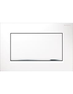 Przycisk uruchamiający Geberit Sigma30 1M, przedni biały-chrom bł.-biały 115.893.KJ.1